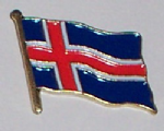 Iceland Country Flag Enamel Pin Badge
